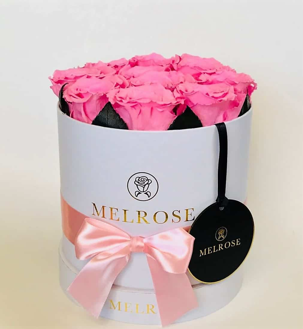The Melrose Simple Round Box – Light Pink - Melrose Flowers